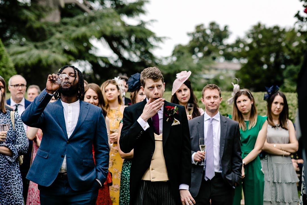yawning groom