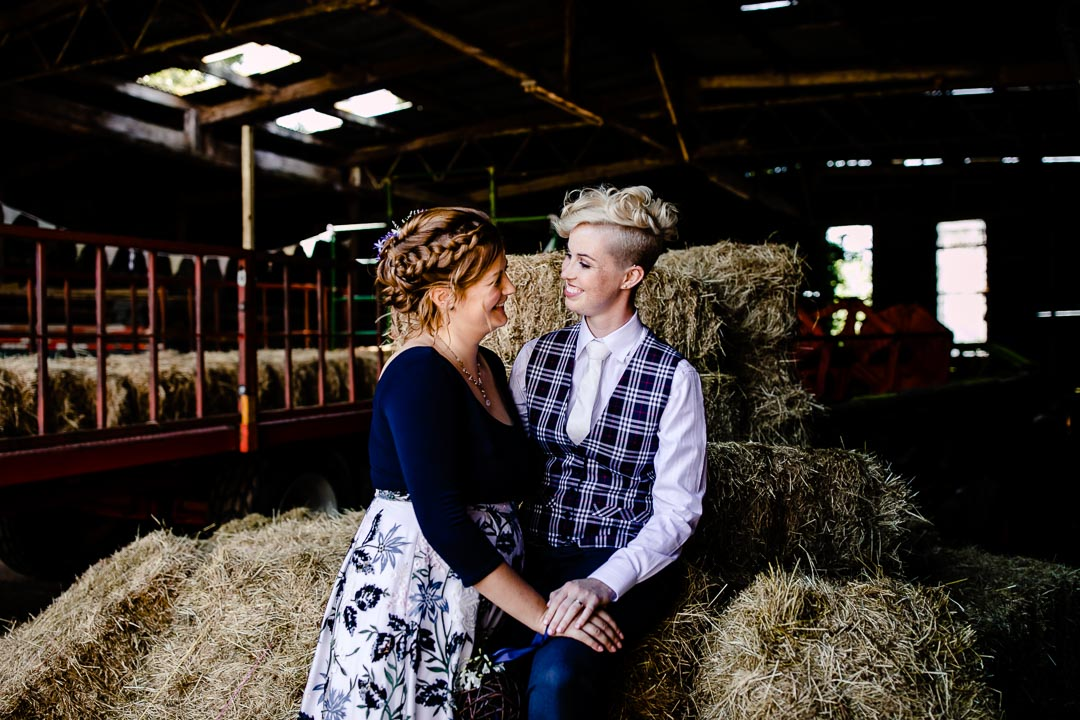 love on the hay bales