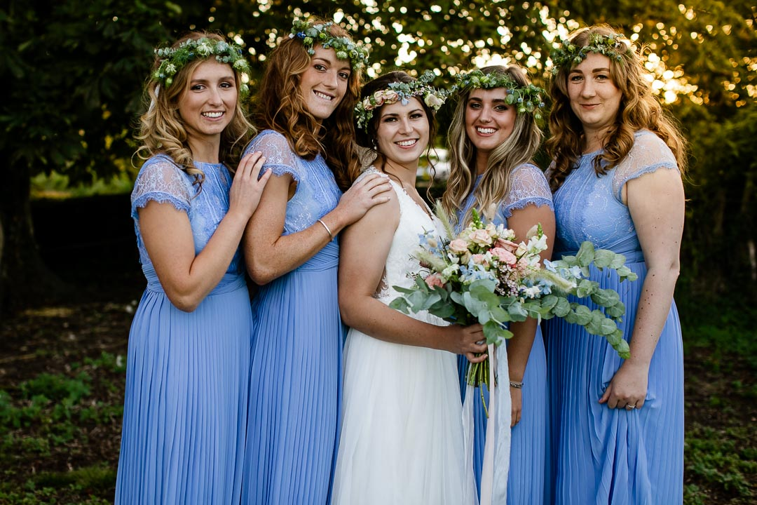 beautiful bunch of bridesmaids